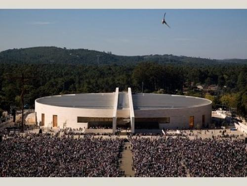Benedict's Cathedral in Fátima, the Beast's offense to Our Lady. Cost: 90 million Euros.