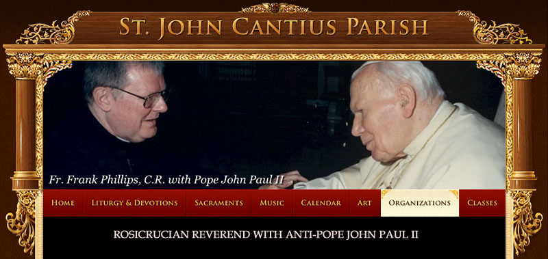 Freemason John Paul II and Freemason C. Frank Philips
