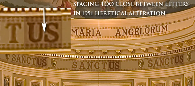 St. Mary of the Angels Chicago - heretical Sanctus markings 2