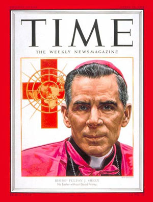 Freemason Fulton Sheen on the cover of Time Magazine