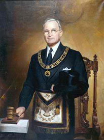 Freemason Harry S. Truman 1884-1972