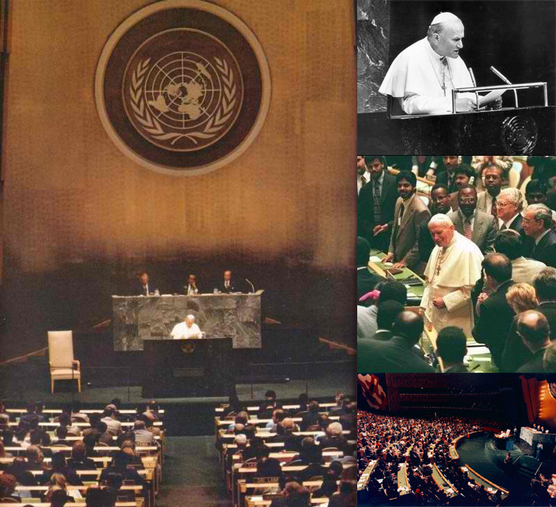 Antipope John Paul II at the United Nations