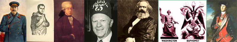 Freemason Stalin, Freemason Gerald Ford, Freemason Karl Marx, Freemason George Washington
