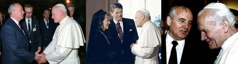 Freemasons Gorbachev, John Paul II, Ronald Reagan