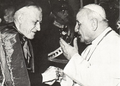 John XXIII giving a Masonic handshake
