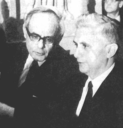 Future Antipope Ratzinger at the Novus Ordo Council in a suit
