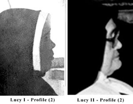 Profile Photographs of the Real Sister Lucia and the fake Sister Lucy