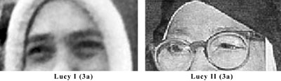 Eyebrow comparison of the Real Sister Lucia and the impostor Sister Lucy