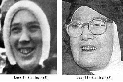 Smile comparison of the Real Sister Lucia and the impostor Sister Lucy