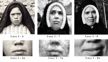 The lips of the Real Sister Lucia