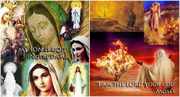 Our Lady is God the Mother - the Biblical Lord is Satan