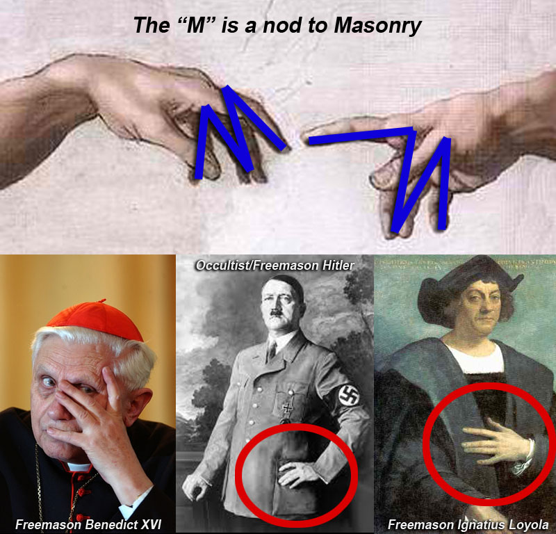 "Freemasons know how to communicate with each other, using their ""M"" handsigns."