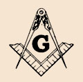 Freemason compass and square