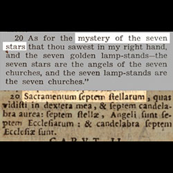"The 1950 Catholic Douay Rheims Bible translates ""Sacramentum"" into ""mystery"" so that modern readers would have no chance at discovering the truth."