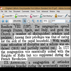 More documentation from the Original Catholic Encyclopedia regarding the 1777 Congregation of Rites operating with the Masonic Knights of Malta.