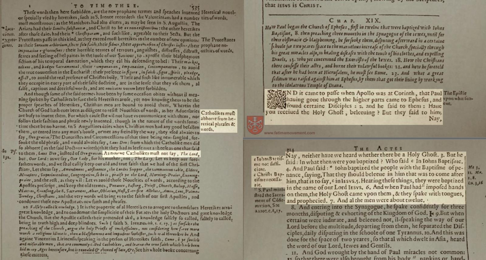 The Original 1582 Douay Rheims