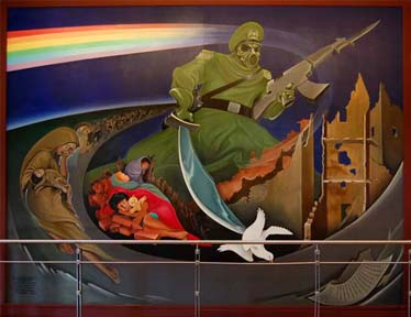 Denver Airport Mural showing the Apocalypse 1