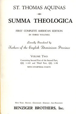 1947 copy of Summa Theologica