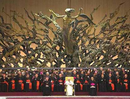 Sculpture from Hell at the Vatican
