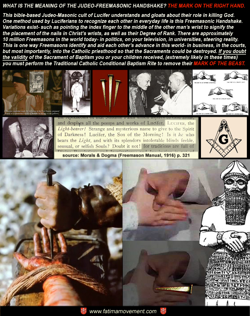 Meaning of the Masonic Handshake - The Mark on the Right Hand