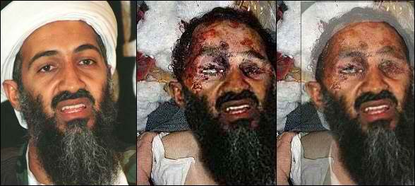Photoshopped image of Osama bin Laden turned into a false proof of his demise