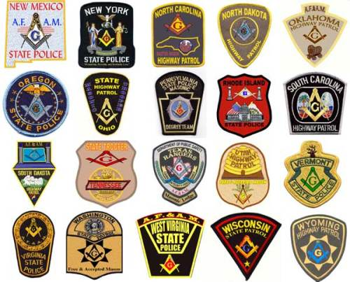 Many Jewish Masonic Police Departments proudly display their association with Big Brother