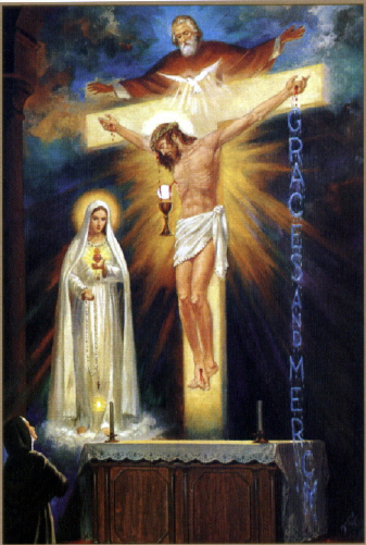 The Mystery of the Trinity was revealed to St. Lucia in Tuy, Spain in 1929.