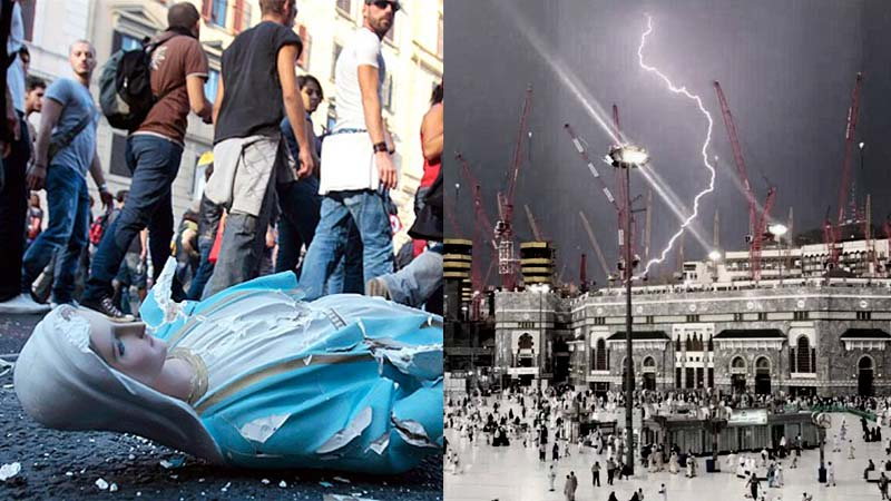 It has been said God should not be mocked. Mecca is dealt a death blow on 9/11/2015 as Fatima Catholics turn their attention to destroying Allah.