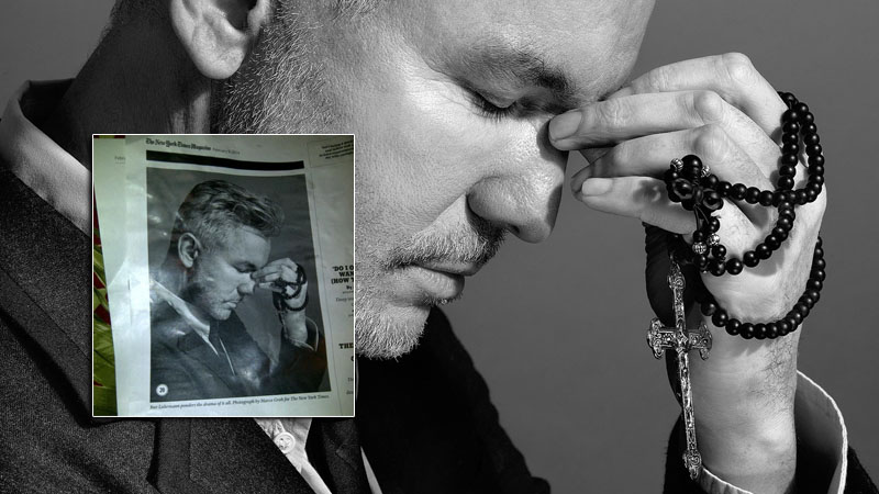 Director Baz Luhrmann was featured in the New York Times Magazine holding an Original 150 Rosary in February, 2014.