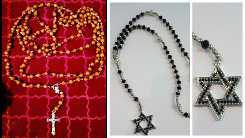 A Fatima Catholic's Original 150 Rosary compared to a Jewish Rosary featuring the heretical decade system.