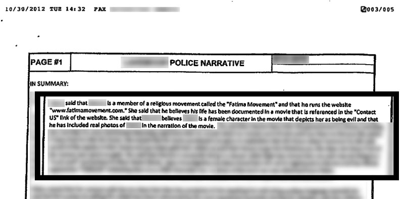 the nobody police report